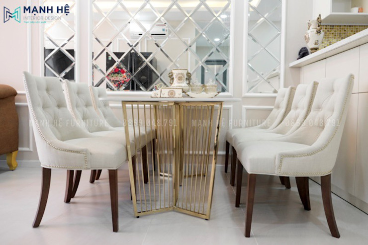Classic style dining room by Công ty TNHH Nội Thất Mạnh Hệ Classic Tiles