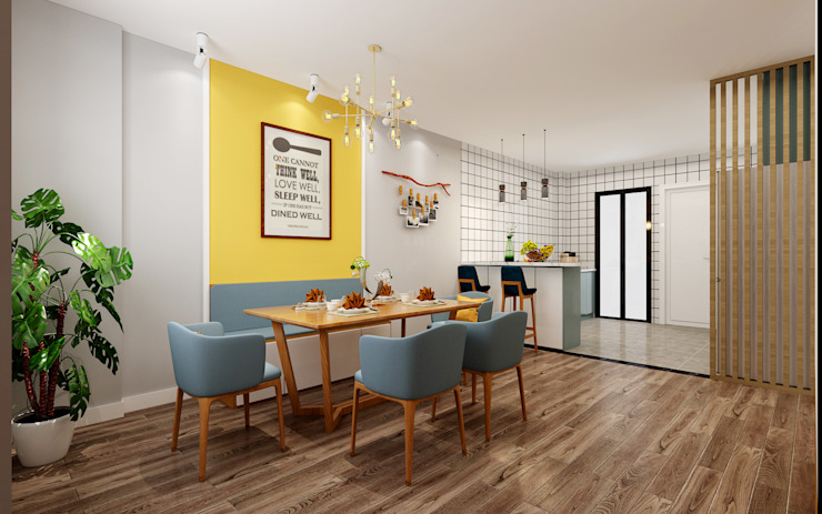 Dining Area Scandinavian style dining room by Swish Design Works Scandinavian Plywood