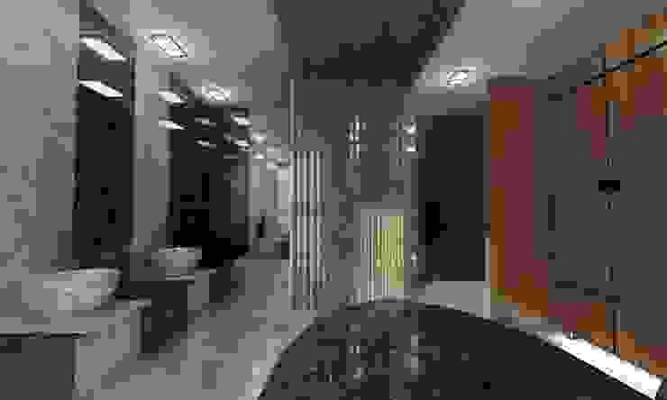 Holiday Inn - Hamam Projesi Kut İç Mimarlık Rustik Banyo Granit Gri