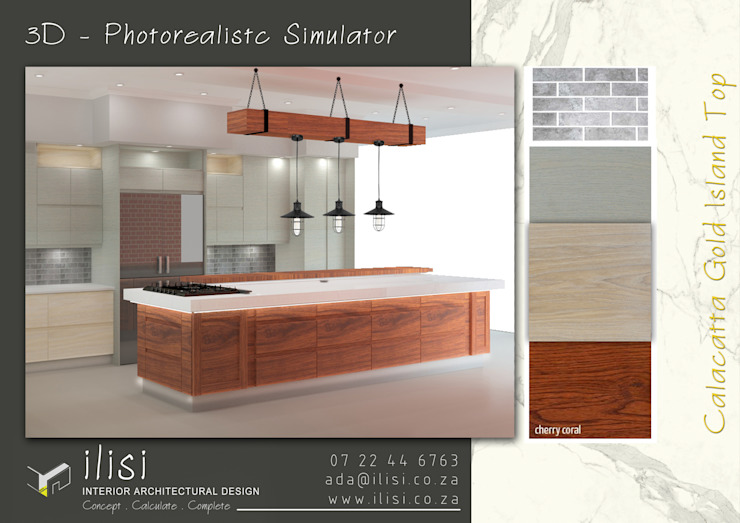 Kitchen Design _ 3D Photorealistc Design Simulator by ilisi Interior Architectural Design Rustic Wood Wood effect