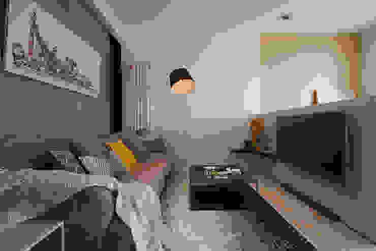 客廳 Living room 根據 隱上設計 北歐風