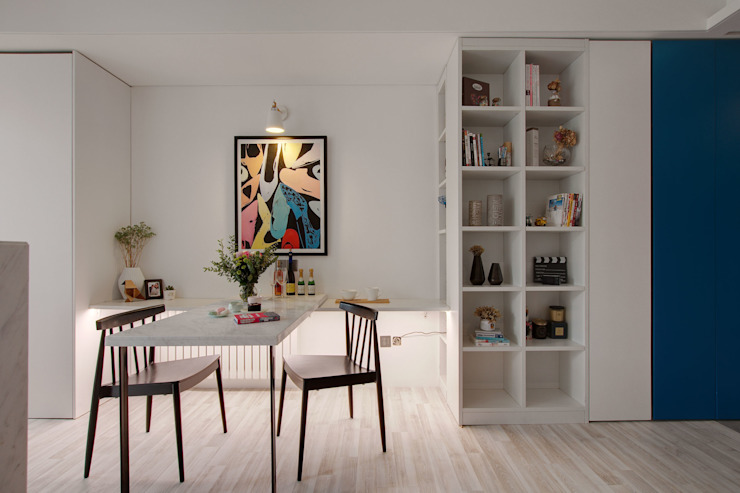書房/餐廳 Study & Dinning room 根據 隱上設計 北歐風