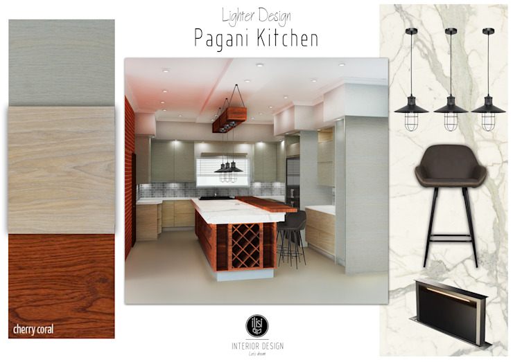 Kitchen Design _ 3D Photorealistc Design Simulator by ilisi Interior Architectural Design Country Wood Wood effect