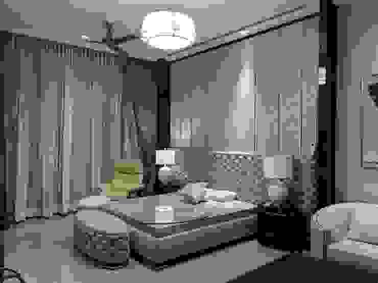 3 BHK Modern residential interior, location Kirti nagar delhi   : modern  by Eagle Decor,Modern Cotton Red