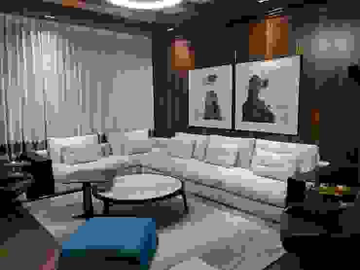 3 BHK Modern residential interior, location Kirti nagar delhi   : modern  by Eagle Decor,Modern Wood Wood effect
