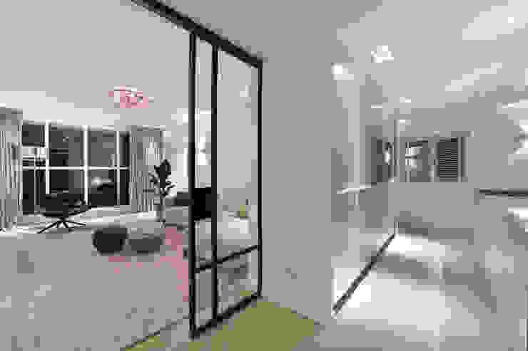 Ontwerp en realisatie van 3D naar uitvoering Moderne woonkamers van Ester Lipsch Creatief Ontwerp Modern
