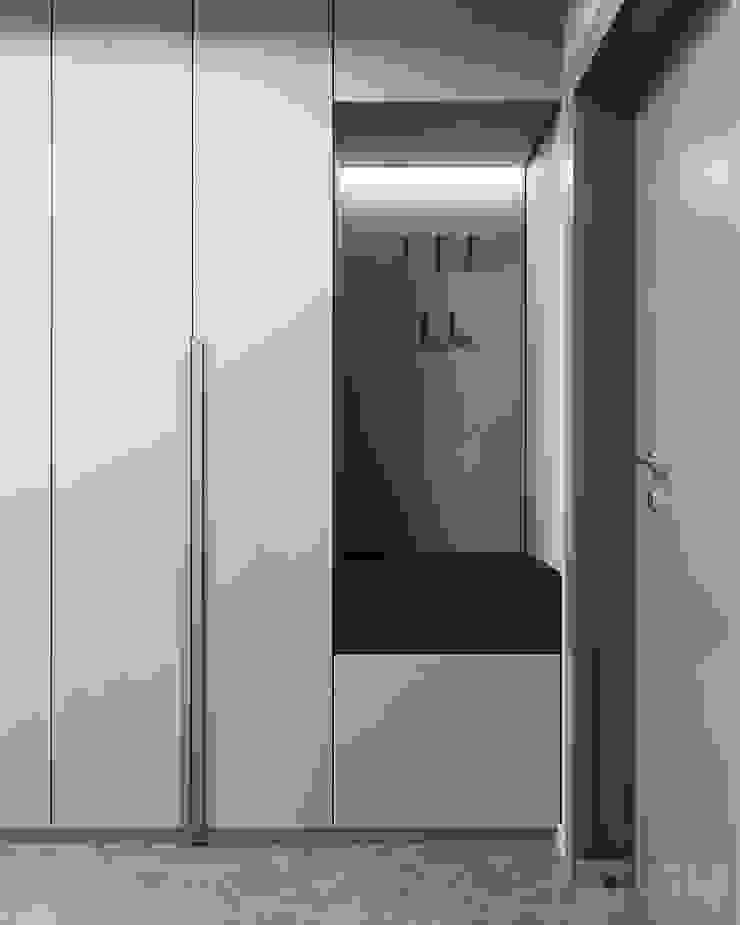 Pasillos, vestíbulos y escaleras de estilo minimalista de GM-interior Minimalista
