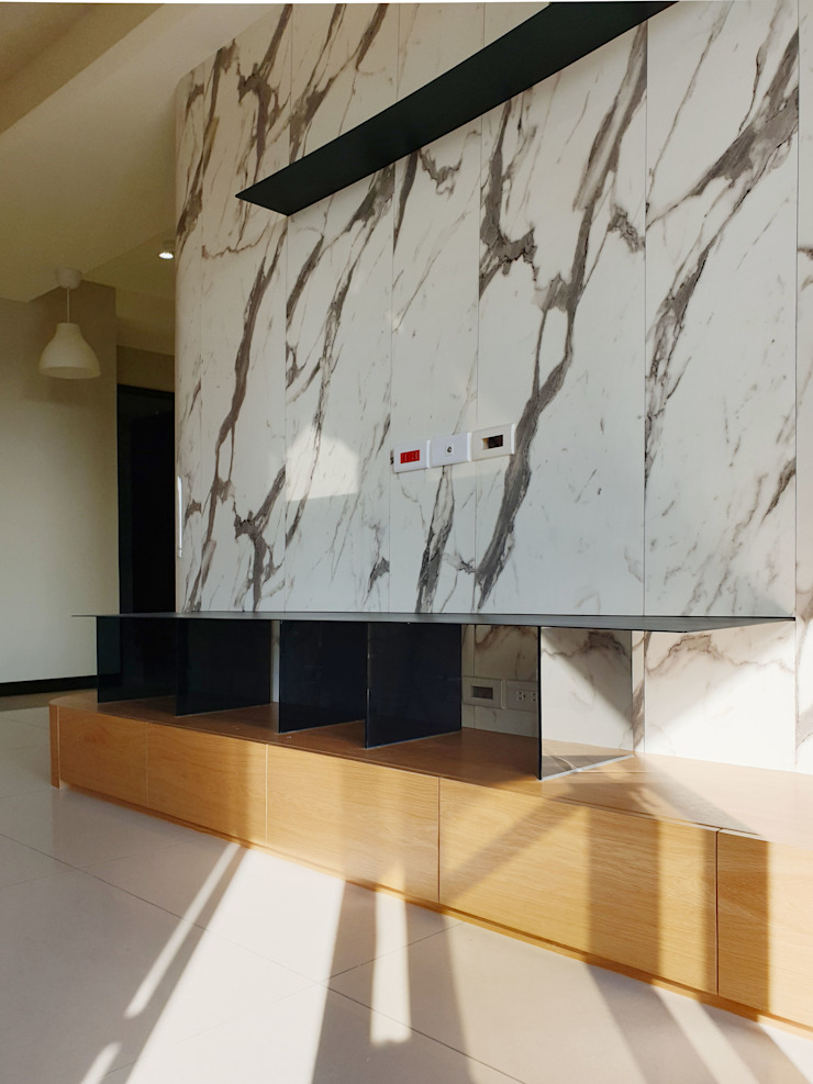 木皆空間設計 Livings de estilo minimalista