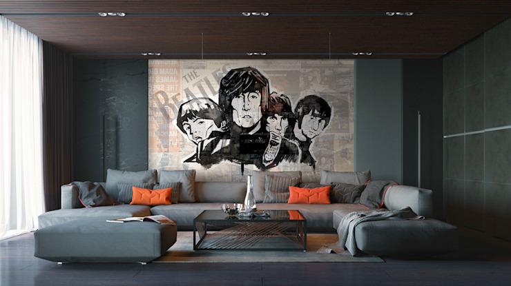 The Beatles Salas multimedia de estilo moderno de coverhouse Moderno