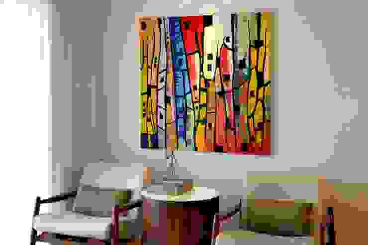 Sala de leitura e café Salas de estar modernas por RAWI Arquitetura + Design Moderno Madeira Efeito de madeira