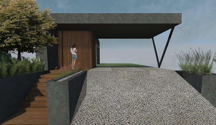 RAWI Arquitetura + Design Double Garage Concrete Grey