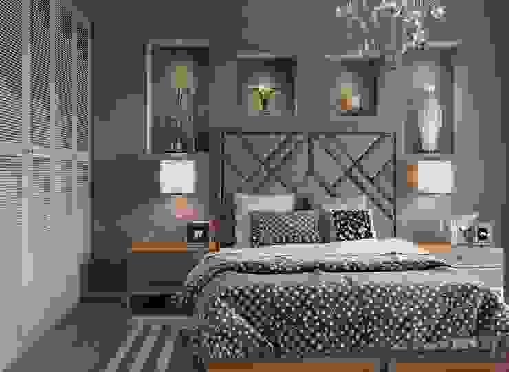 MAT DİZAYN – Bedroom design: modern tarz , Modern Ahşap-Plastik Kompozit