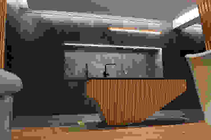 Remodelação de Apartamento T3 - Flow of Contrast Office of Feeling Architecture, Lda Cozinhas modernas Cinzento