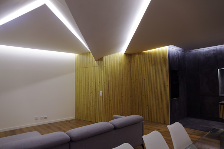 Office of Feeling Architecture, Lda Modern living room Wood Wood effect