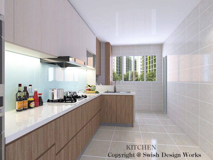 Kitchen Modern kitchen by Swish Design Works Modern Plywood