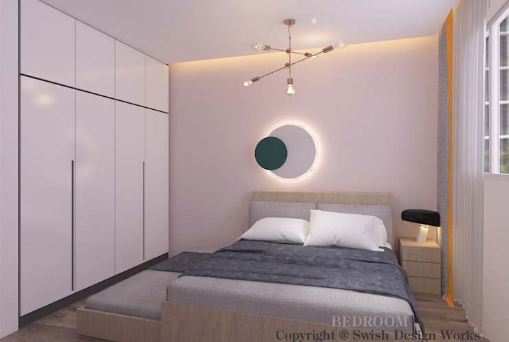 Common Bedroom by Swish Design Works Modern Plywood