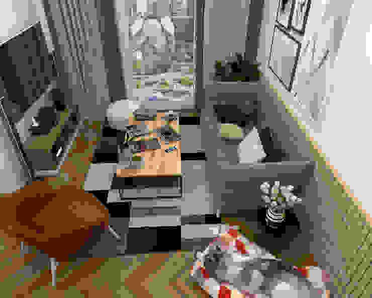 Swish Design Works Salon scandinave Effet bois