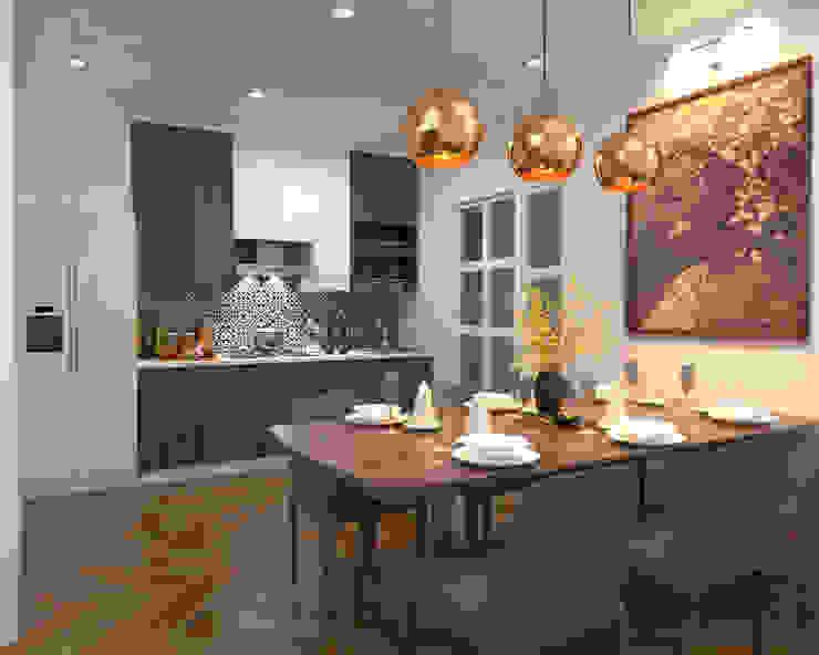 Swish Design Works Cuisine intégrée Effet bois