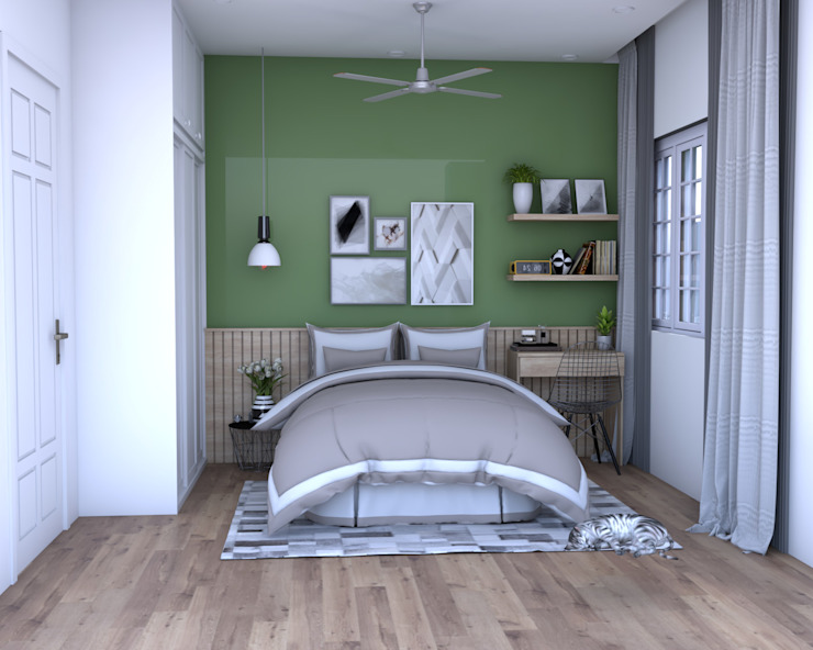 Swish Design Works Petites chambres Vert