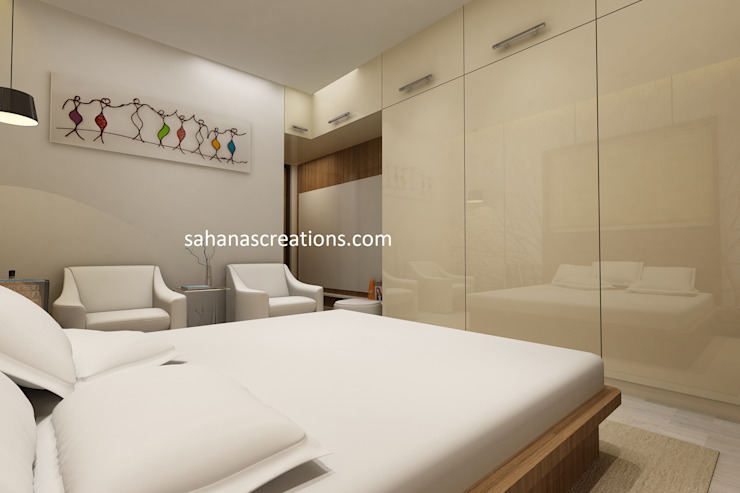Interior Designers for Bedrooms by Sahana's Creations Architects and Interior Designers Minimalist Plywood