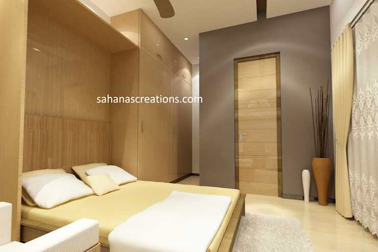 Study room Interior Designers Minimalist bedroom by Sahana's Creations Architects and Interior Designers Minimalist Wood Wood effect