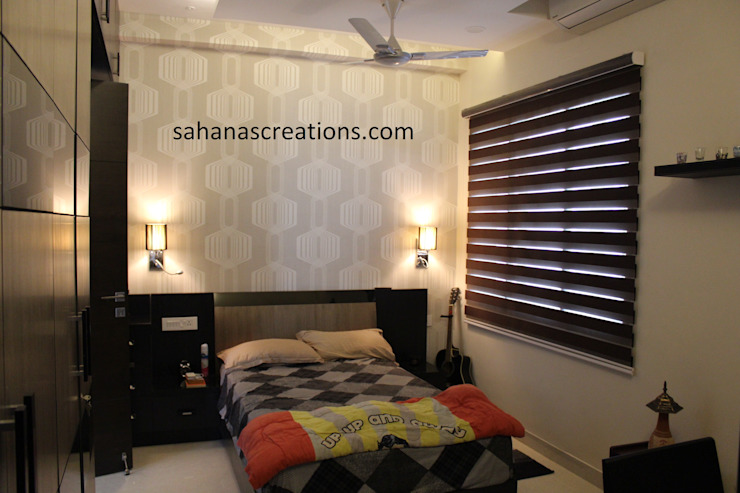 Adult Bed Room Interiors Minimalist bedroom by Sahana's Creations Architects and Interior Designers Minimalist
