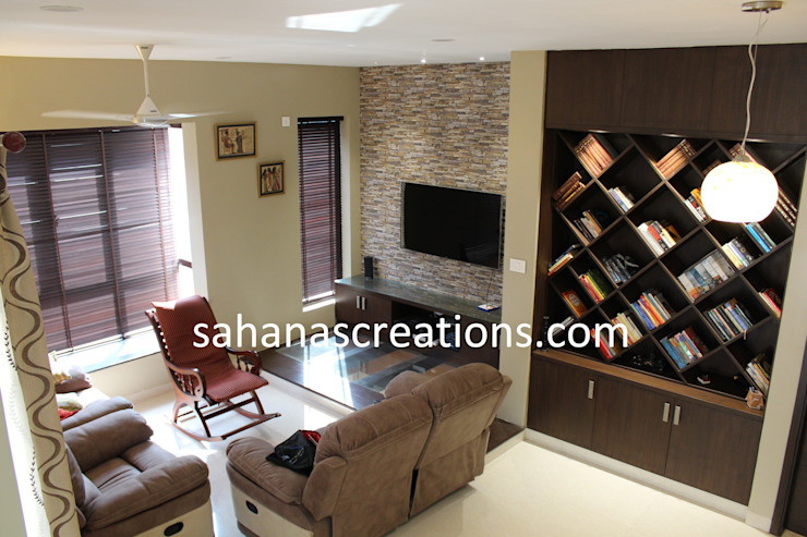 Living Room Interiors by Sahana's Creations Architects and Interior Designers Minimalist