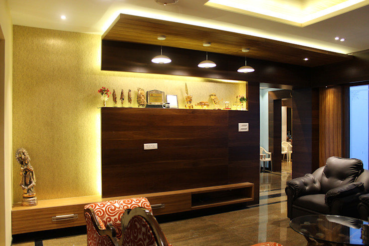 TV unit Designing by Sahana's Creations Architects and Interior Designers Minimalist