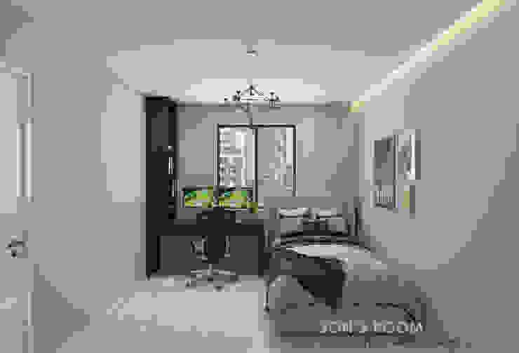 Common Bedroom Swish Design Works Small bedroom Grey