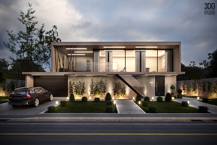 3D Rendering modern house for catalogue. Modern houses by 3DG STUDIO - Render fotorealistico Modern