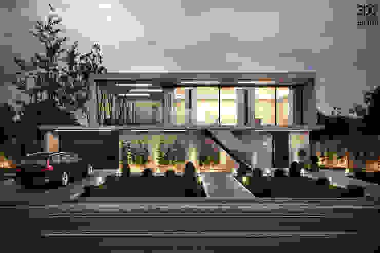 Casas de estilo moderno de 3DG STUDIO - Render fotorealistico Moderno