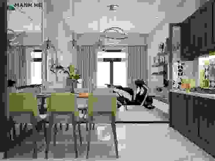 Không gian phòng khách sang trọng Phòng ăn phong cách hiện đại bởi Công ty TNHH Nội Thất Mạnh Hệ Hiện đại