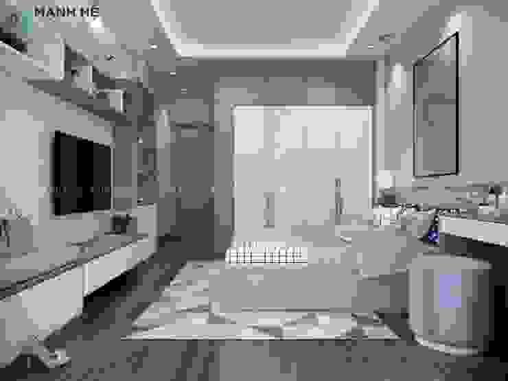 Tủ quần áo gỗ công nghiệp Acrylic đựng trần Phòng ngủ phong cách hiện đại bởi Công ty TNHH Nội Thất Mạnh Hệ Hiện đại