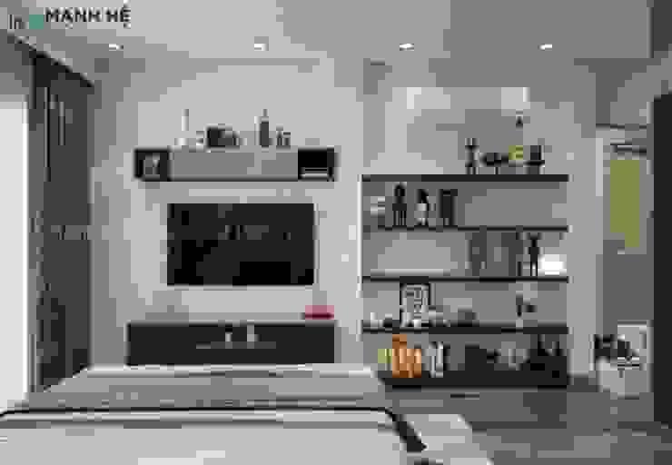 Kệ tivi treo tường gọn gàng giúp tối ưu hóa không gian bởi Công ty TNHH Nội Thất Mạnh Hệ Hiện đại