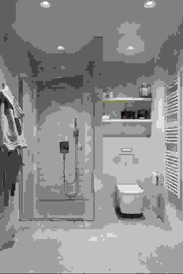 Minimal style Bathroom by Студия архитектуры и дизайна Дарьи Ельниковой Minimalist