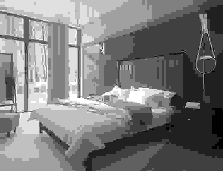 ДОМ 360 М2 В ЖК ВАТУТИНКИ (2016Г.) Спальня в стиле минимализм от МосАрх.рф Минимализм