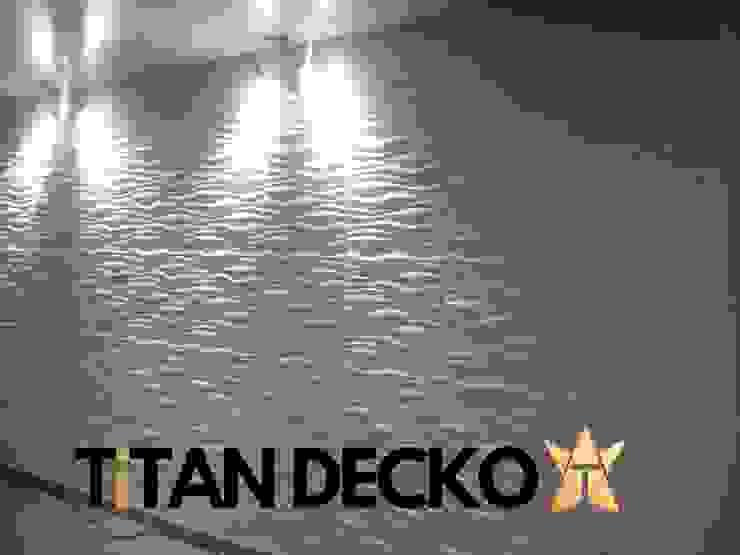 Suministro Paneles 3D en PVC industrial Melgar, Tolima / Proyecto Auditorio Colegio Paredes y pisos de estilo moderno de TITAN DECKO Moderno