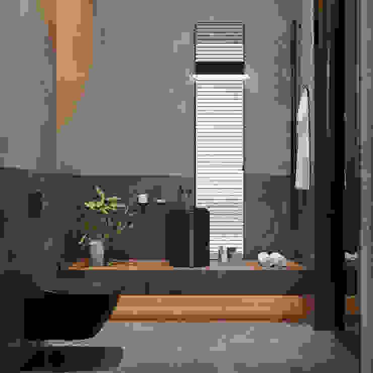 Санузел I этаж Ванная комната в стиле минимализм от Кузьмин Алескей Минимализм