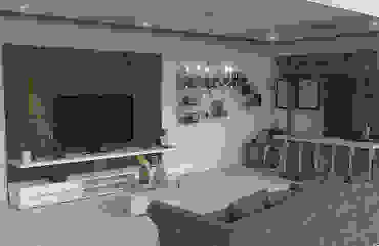 Proyecto Remodelación Family Room Antes y Despues de homify Clásico
