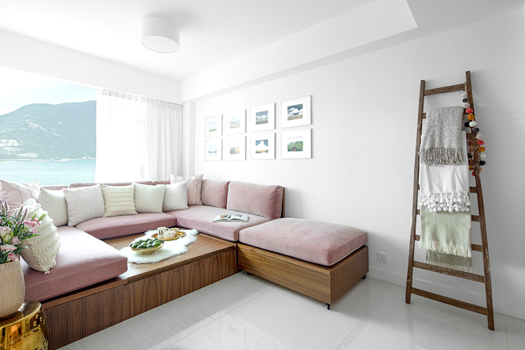 CHUNG HOM KOK HOME Modern media room by B Squared Design Limited Modern