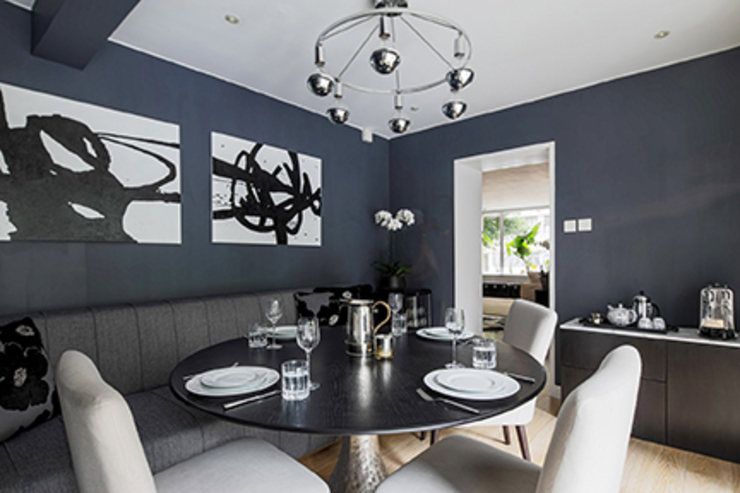 Mid Levels Flat Renovation Modern dining room by B Squared Design Limited Modern