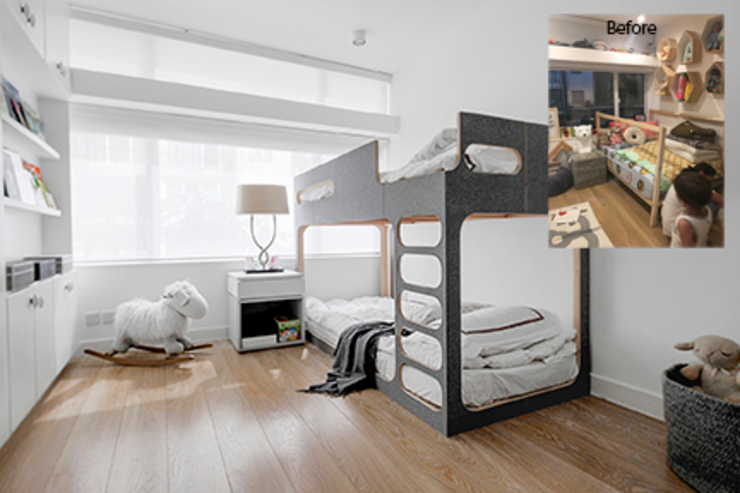 Mid Levels Flat Renovation Modern style bedroom by B Squared Design Limited Modern