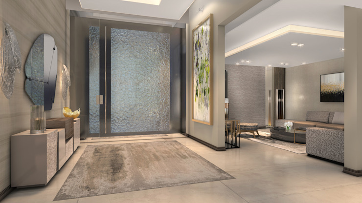 Entrance Modern Corridor, Hallway and Staircase by Spegash Interiors Modern