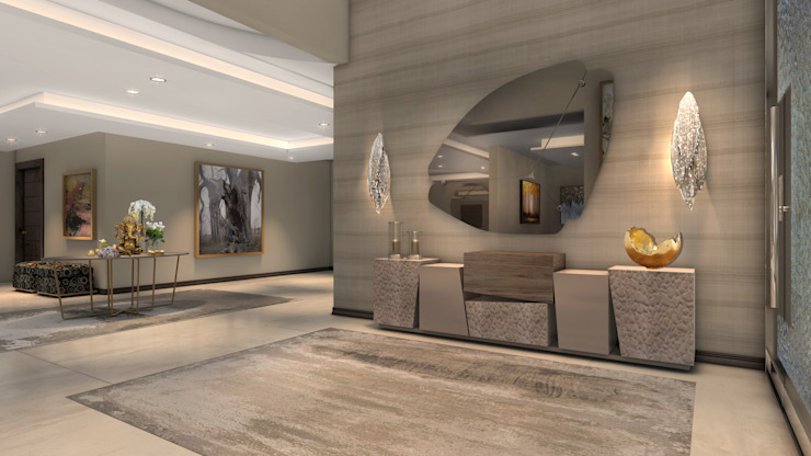 Foyer Modern Corridor, Hallway and Staircase by Spegash Interiors Modern
