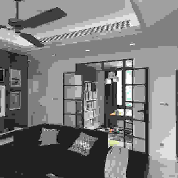 Nelson W Design Estudios y despachos modernos Derivados de madera Blanco