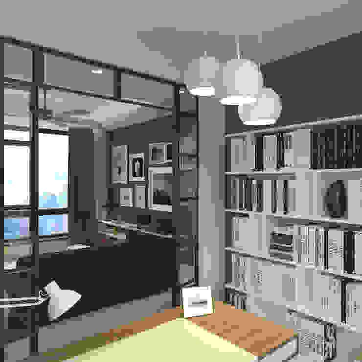 Nelson W Design Estudios y despachos modernos Derivados de madera Turquesa