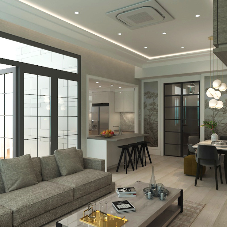 朗逸峯 The Cairnhill | Tsuen Wan 荃灣 | Hong Kong 香港 Modern dining room by Nelson W Design Modern Engineered Wood Transparent