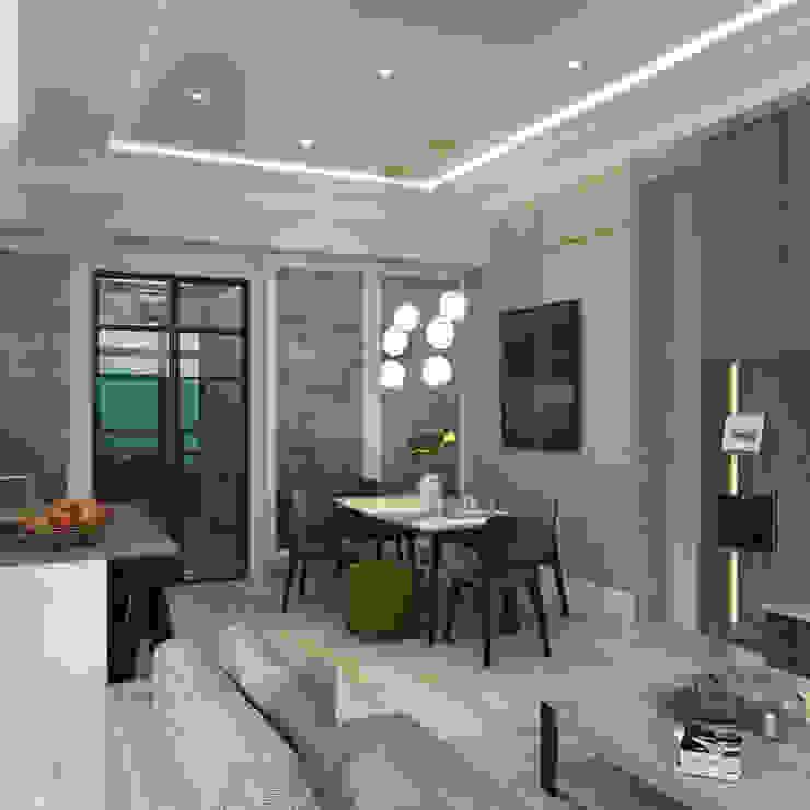 朗逸峯 The Cairnhill | Tsuen Wan 荃灣 | Hong Kong 香港 Classic style dining room by Nelson W Design Classic Engineered Wood Transparent