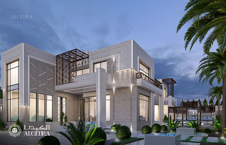تصميم فيلا العمارة الحديثة Algedra Interior Design منازل صغيرة