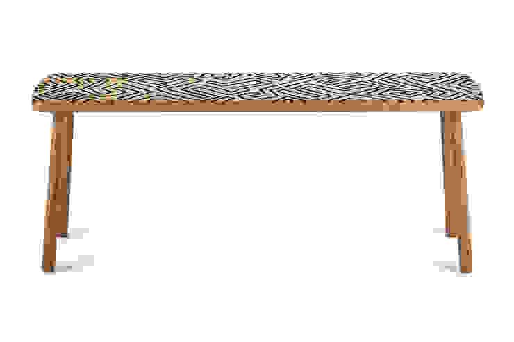 Benjamin bench black in Mud cloth: scandinavian  by Saks Corner cc, Scandinavian Wood Wood effect